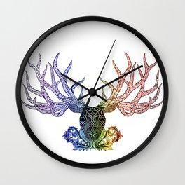 Crown of Antlers Wall Clock