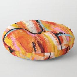 Abstract Orange 2 Floor Pillow
