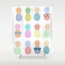Pastel Pineapples Shower Curtain