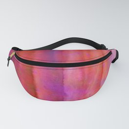 Striped Watercolor Art vibrant Red and Pink Fanny Pack