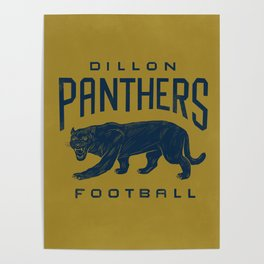 Dillon Panthers Football Poster