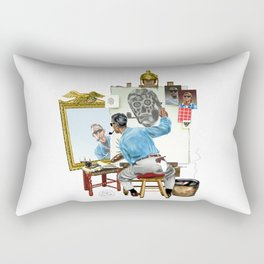 Chew Bubble Gum and Basterdize a Norman Rockwell Classic...and I'm All Out of Bubble Gum Rectangular Pillow