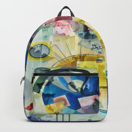 Displacement Glitch-Colorful Abstract Art Backpack