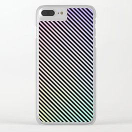 Neon Rainbow Clear iPhone Case
