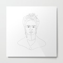 Doña Frida Kahlo Metal Print