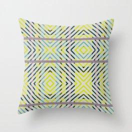 Diagonal Plaid - Orchid Throw Pillow