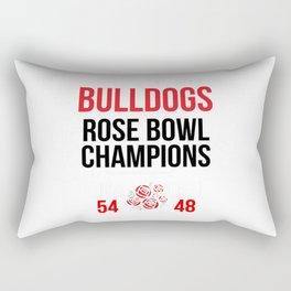 Bulldogs Rose Bowl Champions Shirt (Score Shirt)- 2018 Georgia Rectangular Pillow