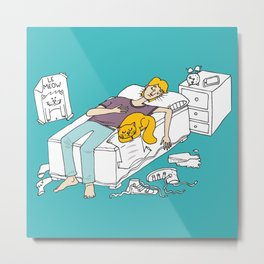 Why should I make my bed again Metal Print
