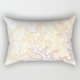 Contour Map of Bryce Canyon, Utah Rectangular Pillow
