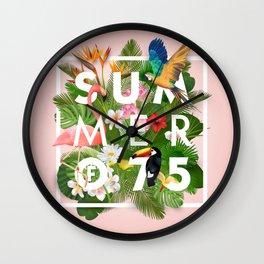 SUMMER of 75 Wall Clock