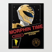 power rangers Canvas Prints featuring NES Power Rangers by IF ONLY