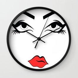 Eyeliner & Lipstick Wall Clock