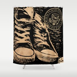 Ramones Shoes Shower Curtain