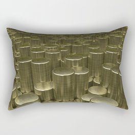 Pattern of brushed gold cylinders Rectangular Pillow