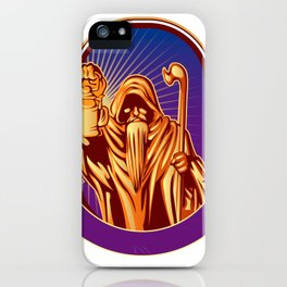 Hermit holding lamp iPhone Case