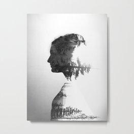 Treeline Portrait Metal Print