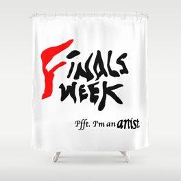 Finals Week... Shower Curtain