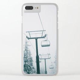 Ski Lift II Clear iPhone Case