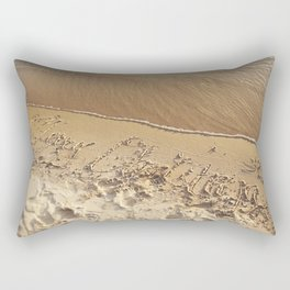 Merry Christmas Beach Rectangular Pillow
