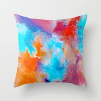 blush Throw Pillows featuring Blush by Kimsey Price