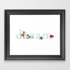 Woodland Dreams - Blue Framed Art Print