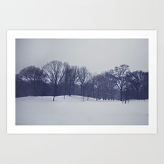 Landscape in the Snow Art Print