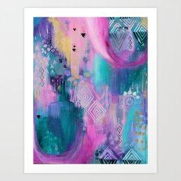 Auqua Portal Art Print