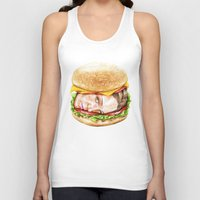 burger Tank Tops featuring Burger by Creadoorm