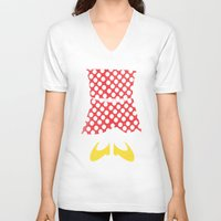 minnie mouse V-neck T-shirts featuring minnie mouse minimal grunge... by studiomarshallarts
