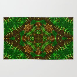 Emerald Path Mandala Rug