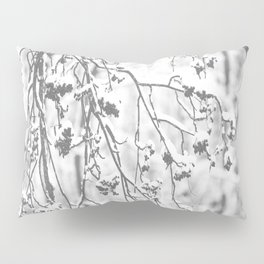 Cloudy Day In The Forest B&W Snowy Rowan Branches With Berries #decor #society6 #homedecor Pillow Sham