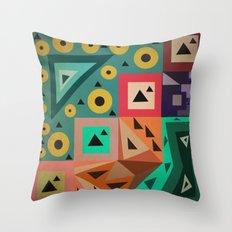 crazy triangles Throw Pillow