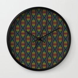 Rainbow DNA Wall Clock