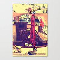 boat Canvas Prints featuring boat by gzm_guvenc