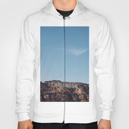 Vintage Retro Hollywood Sign Los Angeles California Colored Wall Art Print Hoody