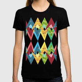 Fragments and patchwork T-shirt