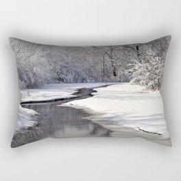 A quiet walk  Rectangular Pillow