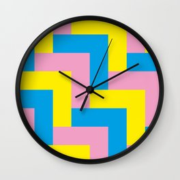 An easy one. Arrow heads...Graphical arrow heads in children colors. Wall Clock