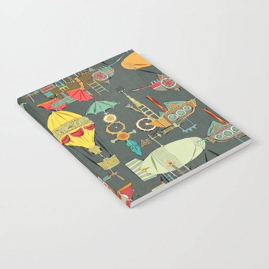 steampunk sky dark Notebook