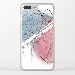 it's a brain/heart decision Clear iPhone Case
