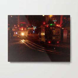 Midnight Trolly Metal Print