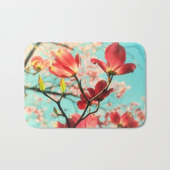 Spring dogwood blossoms Bath Mat