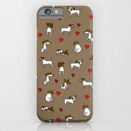 Jack Russell Terrier Cartoon Brown iPhone Case