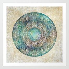 Moon Mandala Kunstdrucke