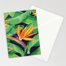 Bird of paradise flower Stationery Cards