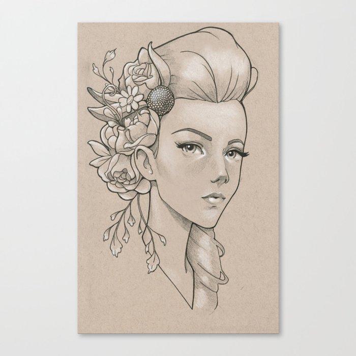 Practice sketch 2 Canvas Print