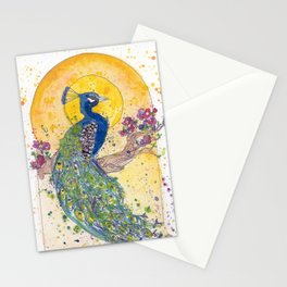 Peacock in the Sun Stationery Cards