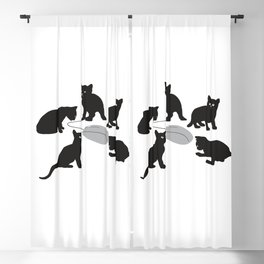 Kittens is hunting for computer mouse Blackout Curtain