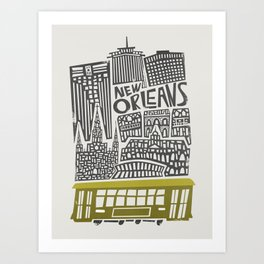 New Orleans City Cityscape Art Print