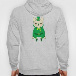 Cute French Bulldog is Feeling Lucky on St. Patrick's Day Hoody